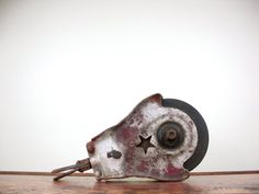 Vintage Barn Pulley, Wooden Pulley, Starline Pulley, Barn Find, Factory Pulley