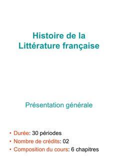 I'm reading Histoire de la Littérature française COURS on Scribd