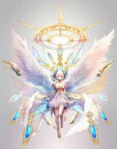 grafika anime, angel, and wings Anime Angel Girl, Anime Art Girl, Manga Girl, Kawaii Anime, Chica Anime Manga, Image Manga, Estilo Anime, Fanarts Anime, Fantasy Kunst