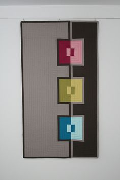 In The Mirror Wall Art Quilt by Josée Carrier from The Charming Needle