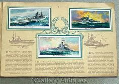 Players Modern Naval Craft Full Set Cigarette Cards in Album 1939 #followvintage