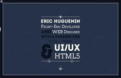 Eric Huguenin - Website of the Day - 13 December 2014 http://www.csswinner.com/details/eric-huguenin/8438