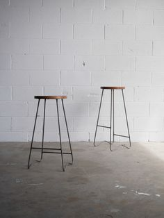 Classic industrial Bar Stool by Straightboard on Etsy