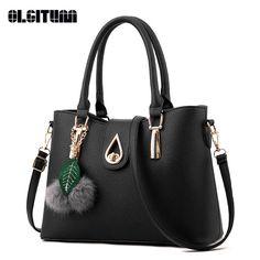 b2fbadad2e1 OLGITUM New Arrival 2017 Women Fashion Handbags Pu Leather Shoulder Lady  Bags Messenger Big Leisure Handbag for Women HB010. Мода СумкиМодные ...