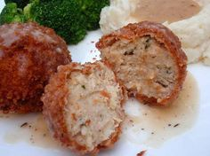 Chicken Croquettes....I used to love these as a little kid....I wonder if my advanced adult palate will as well...