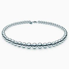 Tiffany | Tiffany beads graduated necklace in sterling silver