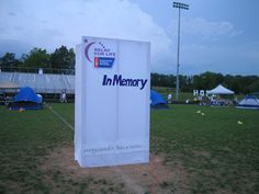 Big Luminee Bag (In Memory) at 2009  Culpeper Relay for Life. Fun idea to decorate your Luminaria sales area