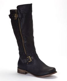 Black Buckle Grace Boot by Fashion Focus on #zulily