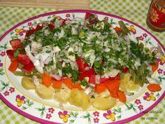 Cinco sentidos na cozinha: Salada quente de bacalhau