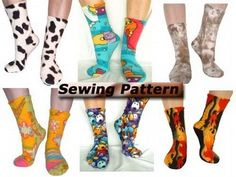 Full Size PDF Sewing Pattern Fleece Socks by cherryblossoms, $8.00