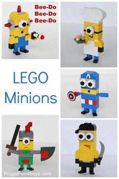 More LEGO Minions to Build! And tons of other Lego projects! More LEGO Minions to Build! And tons of other Lego projects! Lego Minion, Minions Minions, Lego Duplo, Lego Toys, Manual Lego, Projects For Kids, Crafts For Kids, Project Ideas, Instructions Lego