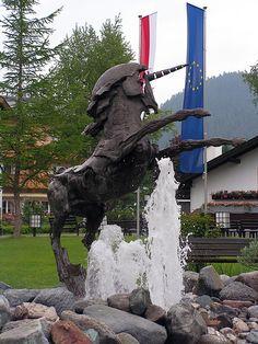UNicorn Statue, Seefeld, Austria by Derek Chaplin http://www.lj.travel/home.cfm #legendaryjourneys