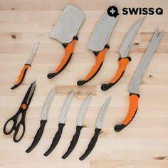 Le complet et moderne set de couteaux Swiss Q Ergo (10 pièces) ne peut pas manquer dans votre cuisine !