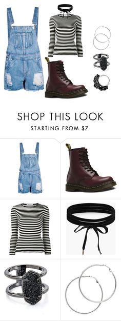 """Weekend Grunge"" by gzmn-j on Polyvore featuring Boohoo, Dr. Martens, philosophy, Kendra Scott and Melissa Odabash"