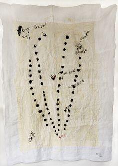 Rieko koga Hand embroidered on cotton