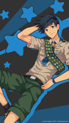 Camp Buddy, Boys Wallpaper, Summer Boy, Anime Life, Kawaii Anime, Camping, Cartoon, Fictional Characters, Gabriel