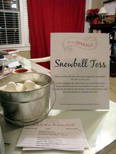I love this idea for a Holiday Party! Don't have as much room but we can do a couple!