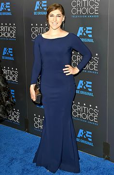 Mayim Bialik from 2015 Critics' Choice TV Awards The Big Bang Theory star pulls off a navy blue, form-fitting dress for the red carpet. NEXT GALLERY: Best of the Red Carpet Critic Choice Awards, Critics Choice, The Bigbang Theory, Amy Farrah Fowler, Dolph Lundgren, Photography Movies, Mayim Bialik, Jim Parsons, Tv Awards