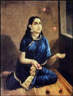 Traditional Indian Women Paintings - Raja Ravi Varma