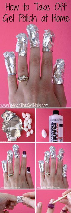Easy DIY Way to Take off Gel Nail Polish at Home.
