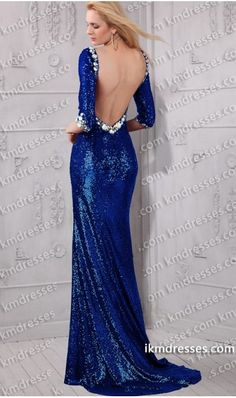 http://www.ikmdresses.com/dramatic-open-back-Jeweled-scoop-neckline-3-4-length-sleeves-side-slit-sequin-dress-p59394
