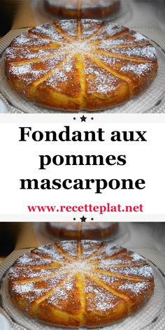 Fondant aux pommes et mascarpone avec thermomix - Best Pins France Dump Cake Recipes, Cheesecake Recipes, Dessert Recipes, Apple Recipes, Sweet Recipes, Easy Summer Desserts, Mini Desserts, Cinnamon Desserts, Passover Desserts