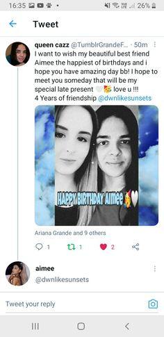 Twitter Tweets, Loving U, Ariana Grande, Best Friends, Happy Birthday, Beat Friends, Happy Brithday, Bestfriends, Urari La Multi Ani