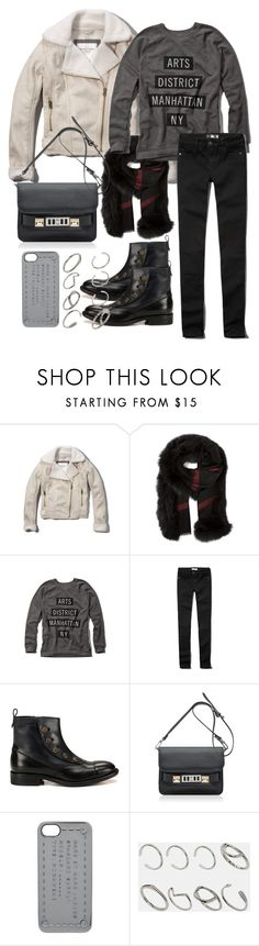 """""""Untitled #2325"""" by bubbles-wardrobe ❤ liked on Polyvore featuring Abercrombie & Fitch, Burberry, HTC, Proenza Schouler, Marc by Marc Jacobs and ASOS"""