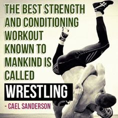 It's called wrestling. They're modern day gladiators in the flesh, shedding blood, sweat, tears and never settling.