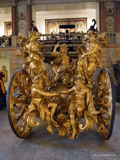 A carriage fit for a pope at the National Coach Museum
