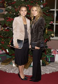 Mary-Kate and Ashley Olsen Red Carpet A brown Vintage Look