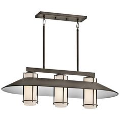 Tavistock Olde Bronze Three Light Outdoor Chandelier Kichler Outdoor Chandeliers Outdoor H