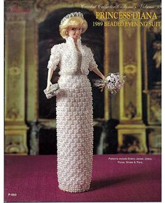 crochet Collector Costume Princess Diana 1989 Beaded Evening Suit  Paradise Publications Volume 49