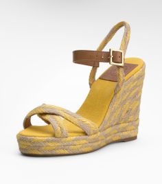 b35716afd Tory Burch Camelia High Wedge Espadrille in Yellow (mustard)