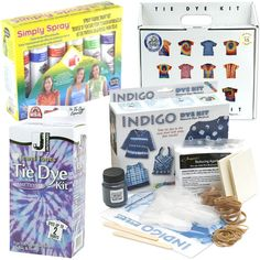 Tie dye kits http://www.bloomize.com/tie-dye-kit-etc/. Like the indigo idea!