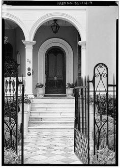 Entrance to Colonel John Algernon Sydney Ashe House, 26 South Battery, Charleston, Charleston County, SC