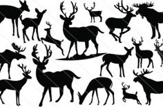 A total of 16 deer silhouette vectors best suits to design animal graphic vector illustrations ideal for tourism catalogs, zoo promotion ads, nature vector. Deer Silhouette Printable, Giraffe Silhouette, Silhouette Clip Art, Silhouette Images, Silhouette Portrait, Silhouette Machine, Silhouette Projects, Vector Art, Vector Graphics
