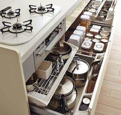 Kitchen Cabinets, Kitchen Appliances, Room Tour, Kitchen Storage, Organize, Organization, Interior, House, Kitchen
