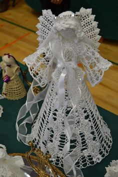 One of a kind Crocheted angels by AngelsandTreasures on Etsy
