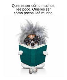 Quieres ser cómo muchos, leé poco. Quieres ser cómo pocos, leé mucho.