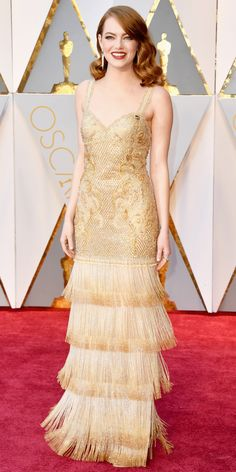 Here Are Our Top 10 Best Dressed Women at the Oscars - Emma Stone in Givenchy Haute Couture by Riccardo Tisci from InStyle.com