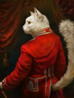 The Hermitage Court Chamber Herald Cat by EldarZakirov (print image)