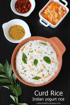 curd rice or yogurt rice is a most commonly eaten dish made with fresh yogurt, brown rice and seasoned with spices. Mint Raita Recipe, Curd Rice Recipe, Coconut Ladoo Recipe, Chicken Keema Recipe, Paneer Masala Recipe, Paneer Dishes, Easy Rice Recipes, Simple Recipes, Brunch