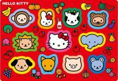 Sanrio Hello Kitty Animal Stickers
