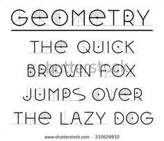 Alphabet letters built by geometric elements. Retro font. Latin alphabet letters