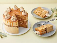 Suolakinuskikakku | Valio Bakewell Tart, Tiramisu, Sweet Treats, Dairy, Cheese, Baking, Cake, Ethnic Recipes, Desserts