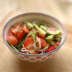 Cucumber, Shallot & Strawberry Salad | 27 Super-Cool Ways To Eat Cucumbers