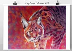 Wild cat in bright by FashionableBird on Etsy