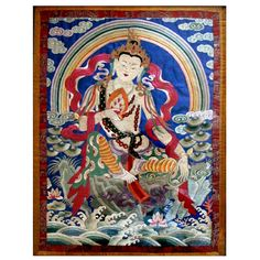 1stdibs - Antique Tibetan Embroidery Thangka White Tara explore items from 1,700  global dealers at 1stdibs.com