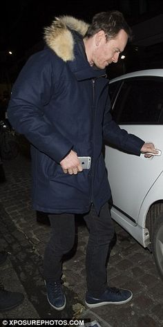 Catching up: Leo met with actor pal Michael Fassbender for drinks at the upscale venue, wi...